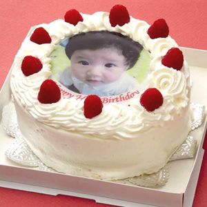 写真ケーキ(丸) 5号 生クリーム【冷凍 到着後は冷蔵庫で3~4時間保管解凍 サプライズ 誕生日 記念日 ウェディング】