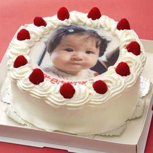 写真ケーキ(丸) 6号 生クリーム【冷凍 到着後は冷蔵庫で3~4時間保管解凍 サプライズ 誕生日 記念日 ウェディング】