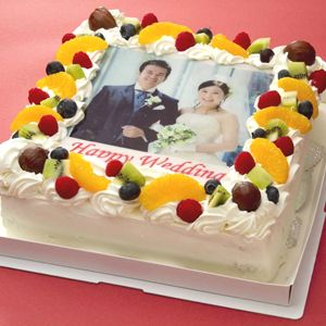 写真ケーキ(四角) 8号 生クリーム【冷凍 到着後は冷蔵庫で4~5時間保管解凍 サプライズ 誕生日 記念日 ウェディング】