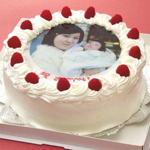 写真ケーキ(丸) 7号 生クリーム【冷凍 到着後は冷蔵庫で4~5時間保管解凍】