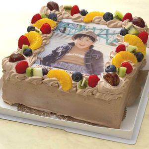 写真ケーキ(四角) 生チョコ 7号【冷凍 到着後は冷蔵庫で4~5時間保管解凍】
