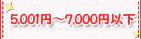 5,001~7,000円以下