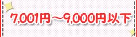 7,001~9,000円以下
